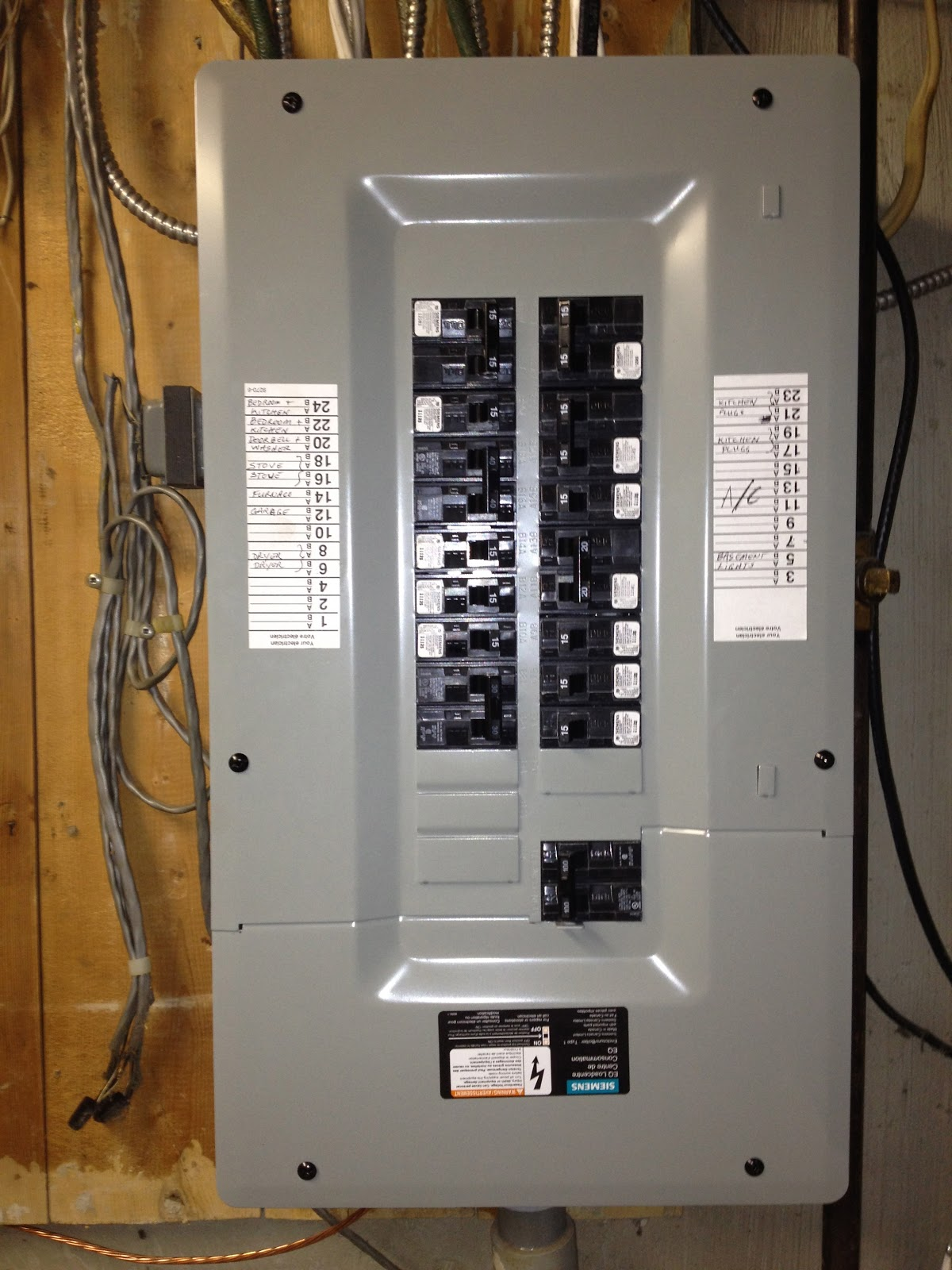 Electrical Services Brad Brown Electric Upgrade 100 Amp Fuse Box To Circuit Breakers Service